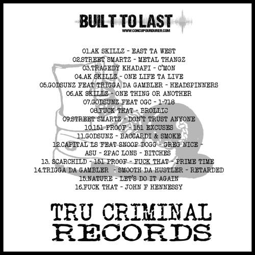 BTL-TRU CRIMINAL RECORDS - Verso
